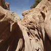 Narrow slickrock section of Bell's Canyon.
