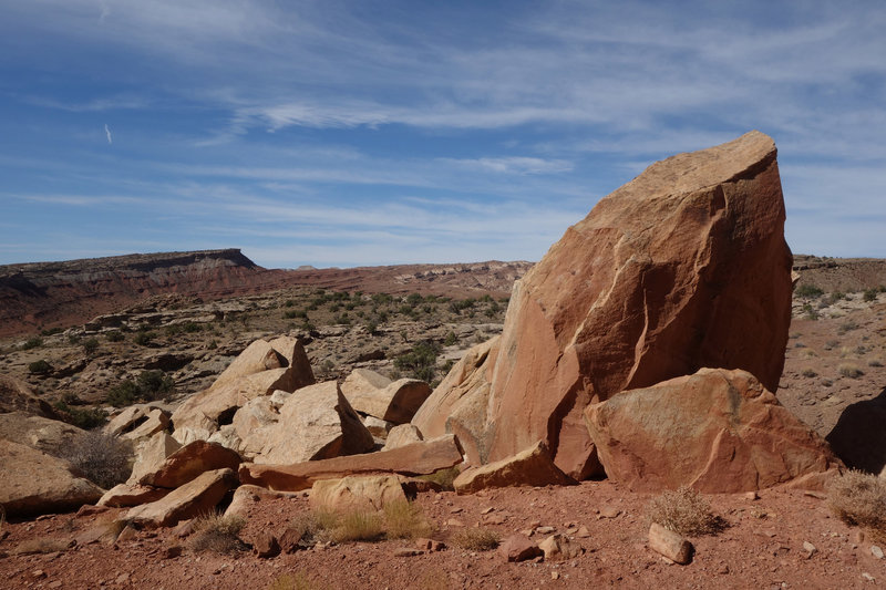 Rocks in the San Rafael Swell between Bell's Canyon and Little Wild Horse Canyon