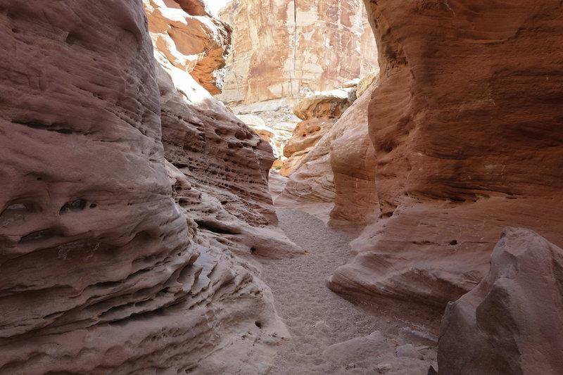 Luminious sandstone of Little Wild Horse Canyon.