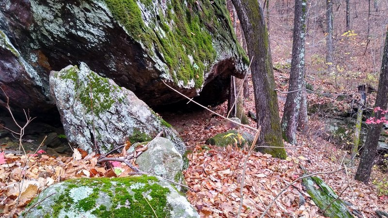 Hospital Rock, from which the trail gets it's name.