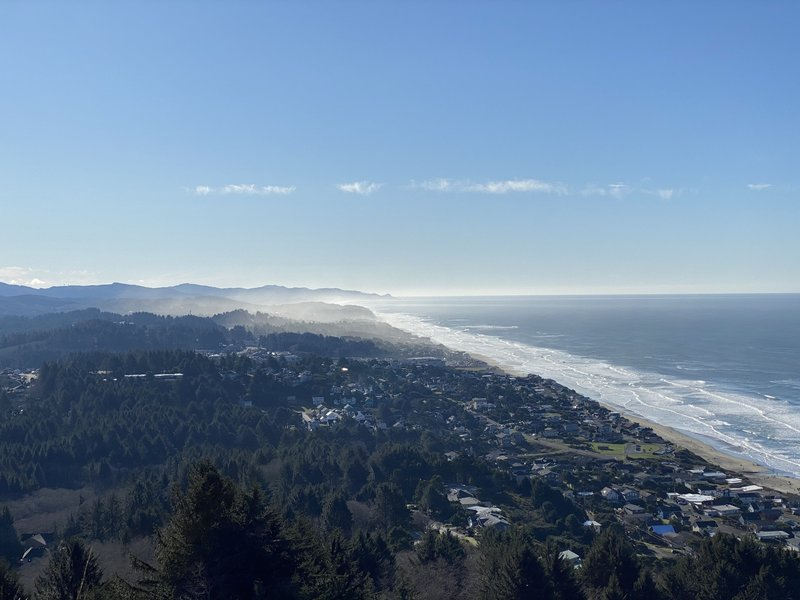 The view over Lincoln City and the Oregon Coast from The Knoll