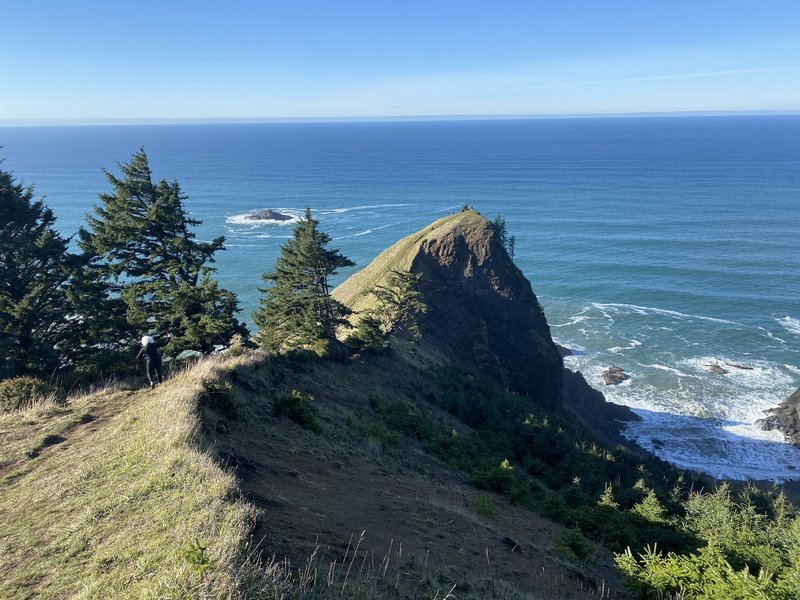 God's Thumb - a spectacular outcropping of rock high above Lincoln City