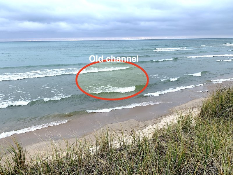 You can still see the remains of a channel that was closed up around 1910.