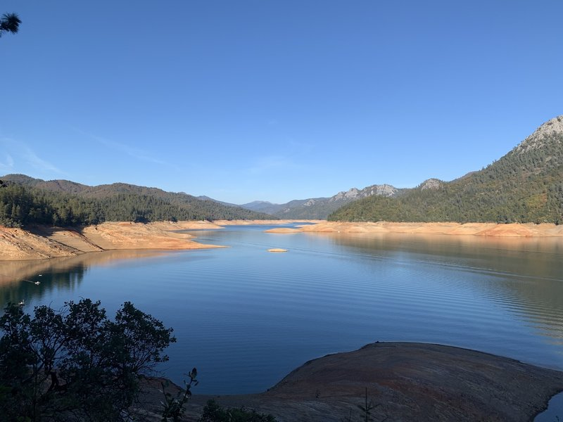 McCloud River arm of Shasta Lake.