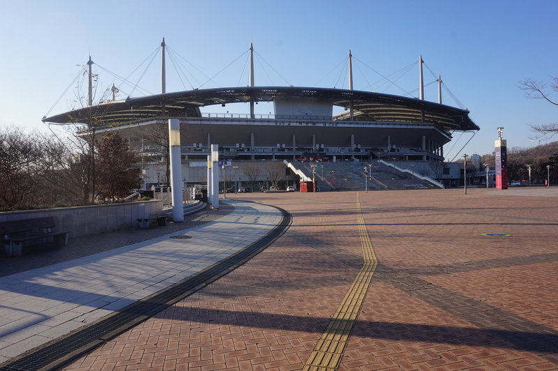 The World Cup Stadium, walking this part of section 7 in reverse.