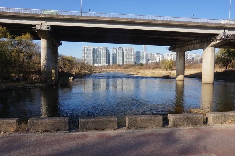 Tancheon Stream from the Seoul Trail