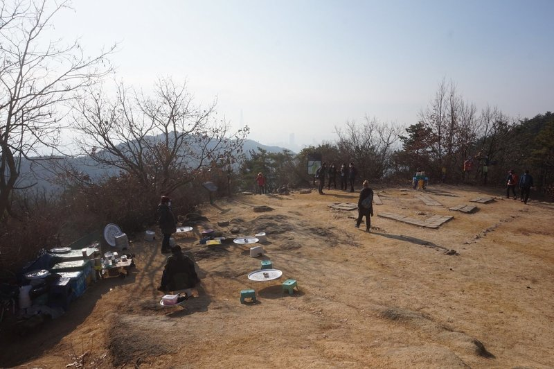 Refreshments for sale at top of Achasan Mt.