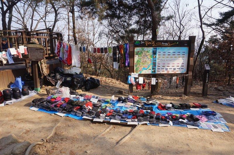 Walking gear for sale at Yongma Urban Natural Park
