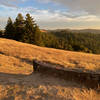 The Wallace Stegner Bench has some amazing views late in the day.