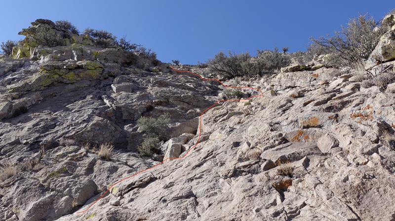 Upper Scramble (25 feet)-rope not needed