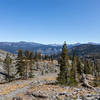 Looking down the King Creek drainage