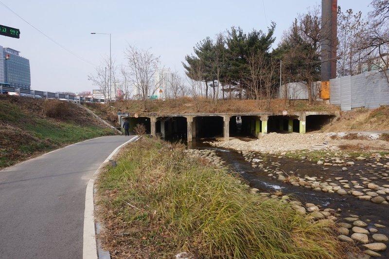 Seoul Trail alongside the Yeouicheon Stream