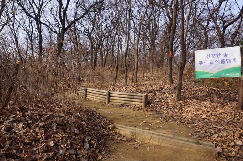 Seoul Trail section 4 in Umyeonsan Park, taken 7th Dec 2020.