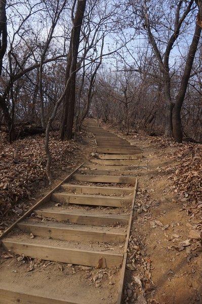 Seoul Trail section 4 in Umyeonsan Park, taken 7th Dec 2020