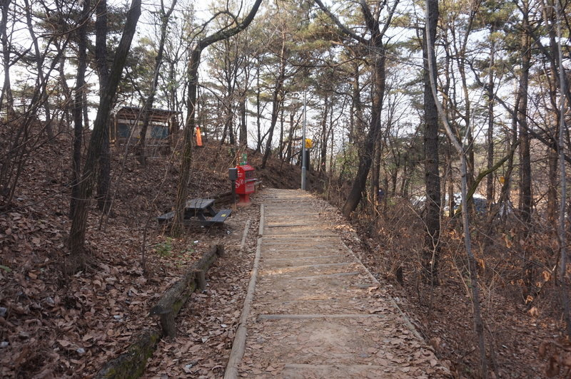 Stamping station on the  Seoul Trail section 4 near Sadang, taken 7th Dec 2020