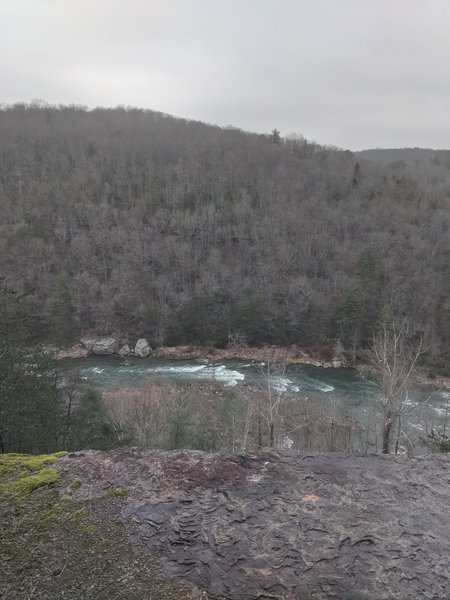 Overlook of the Emory River in winter.