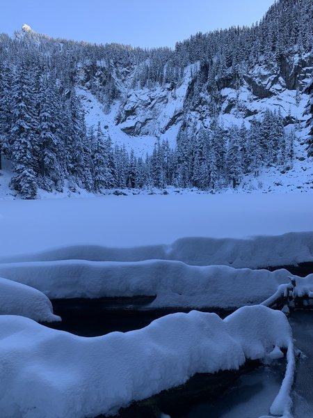 Rainy Lake on Dec 12, 2020.