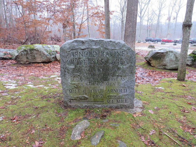 Monument at start of the trail.