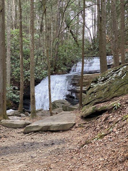 Long Creek Falls from bottom of falls.