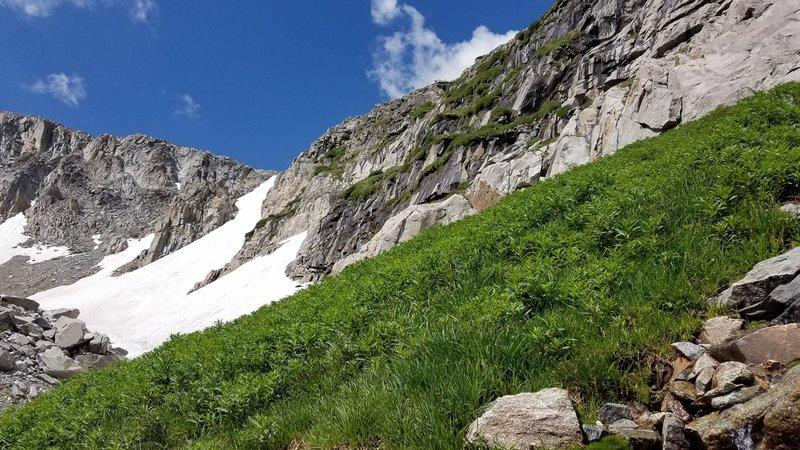 Glacier above Lake Angeline