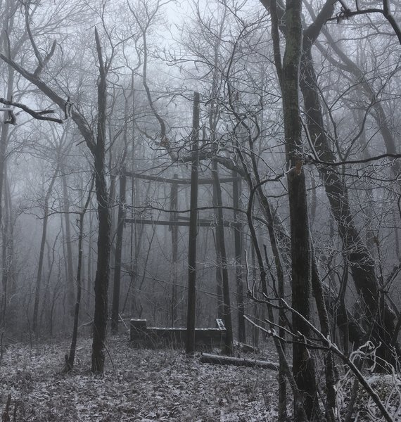 Remains of old Stonega Fire Tower.