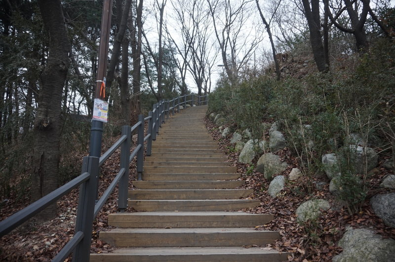 Section 8 of the Seoul Trail at Jangmi Park, taken on 10th of December 2020