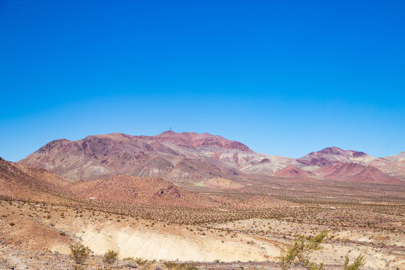 Calico Mountains from Mule Canyon Road.