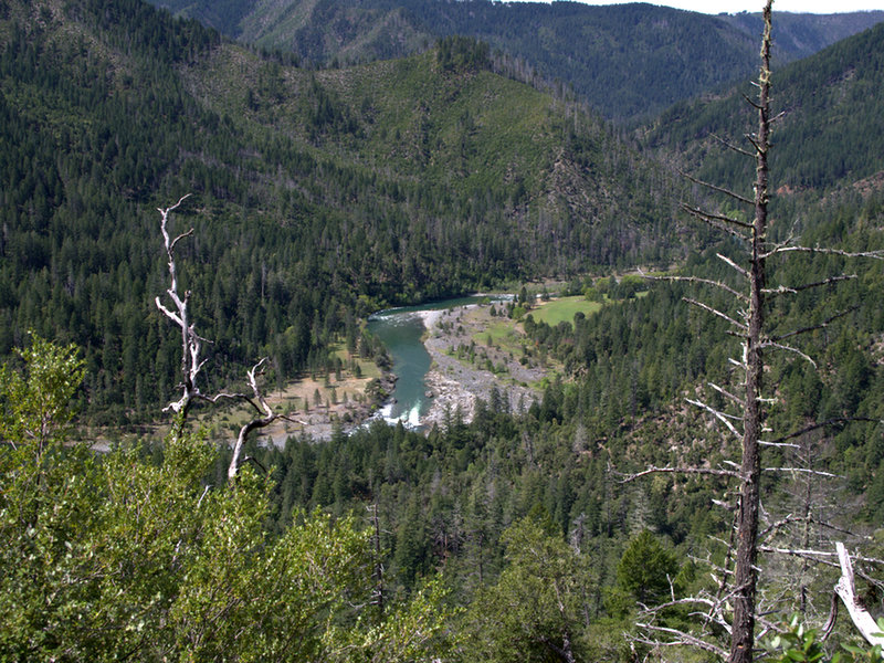 The Illinois River and Pine Flat from the Illinois River Trail.