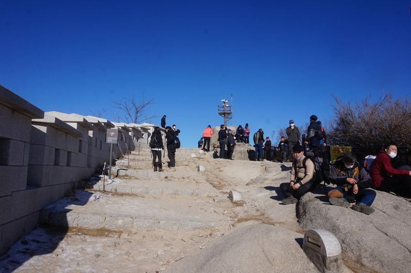 Top of Inwangsan Mountain