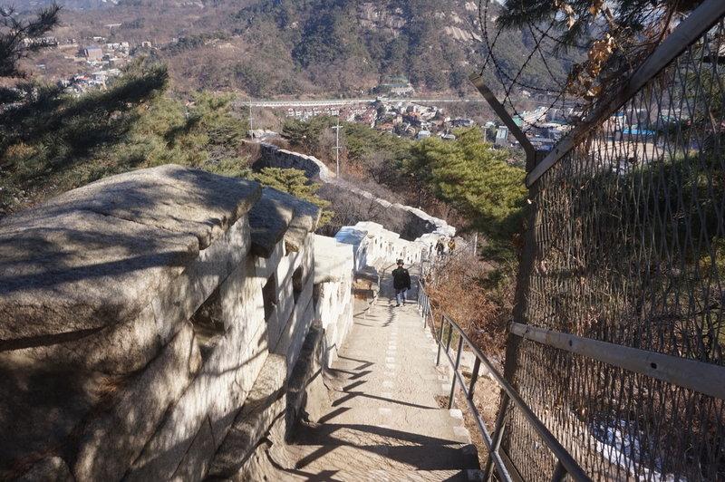 .Seoul City Wall Trail towards Changuimun gate