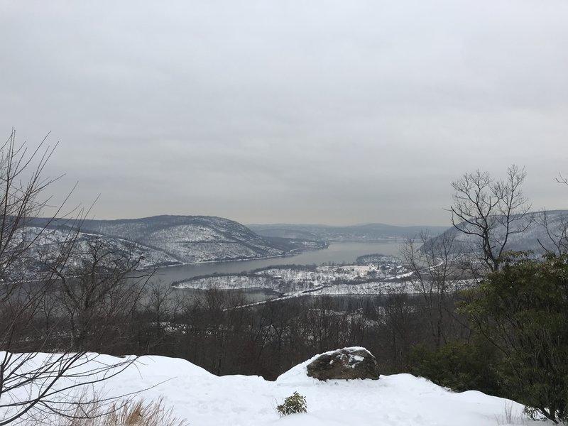 Looking south toward Peekskill on Dec 19 2020.