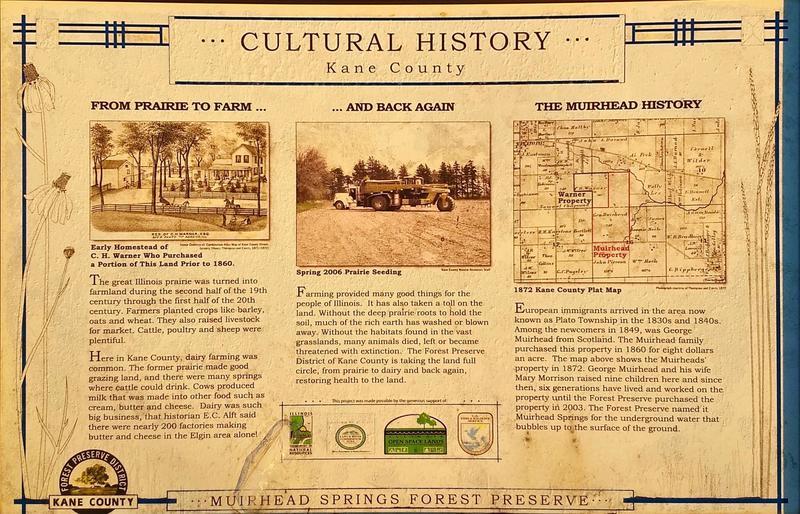 Muirhead History Interpretive Sign