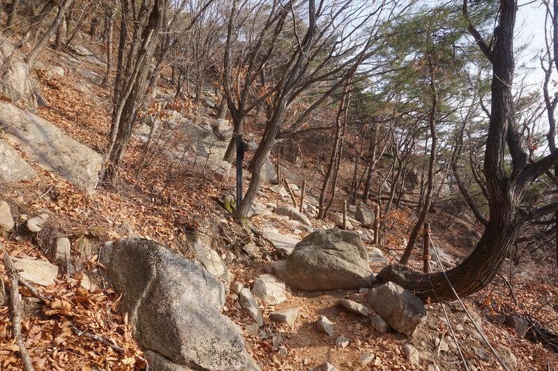 Bukhansan Traverse towards Hyangnobong Peak.