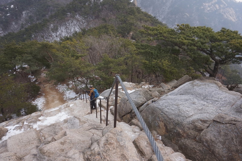 Bukhansan Traverse towards Daenammun Gate