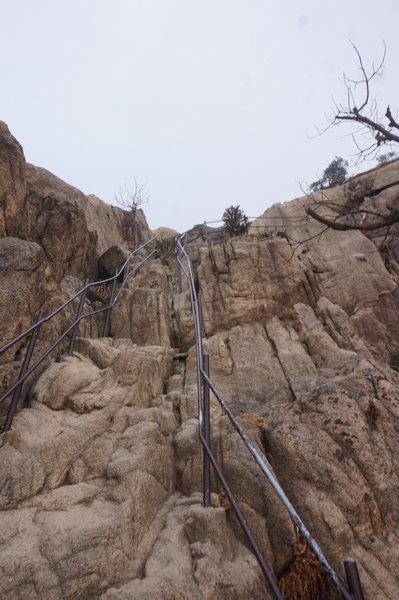 Bukhansan Traverse below Munsubong Peak.