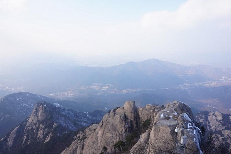 The view from Baegundae Peak