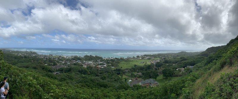 A view of the coast above Haalua, Oahu HI