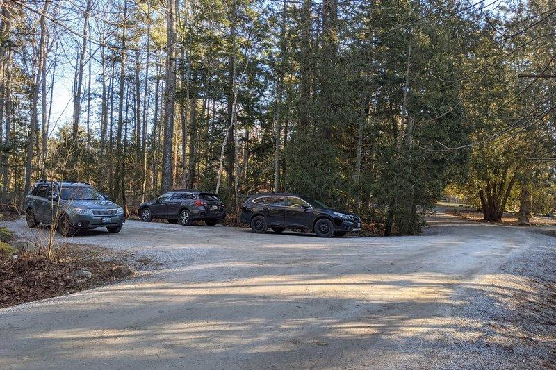 Parking lot - start of trail