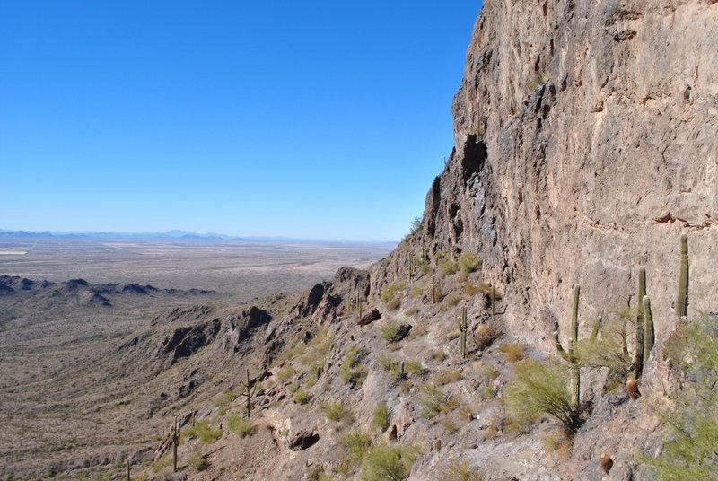 Looking west at beginning of peak climb.