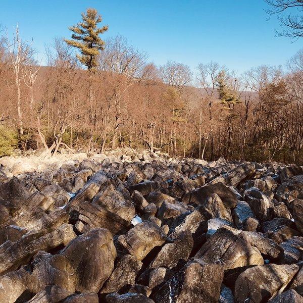 River of rocks.