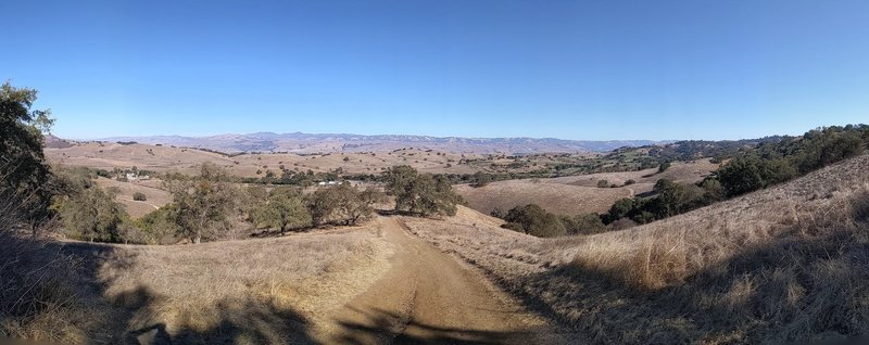 Pano from top of the hill along Pena trail. Nice picnic spot up there too.