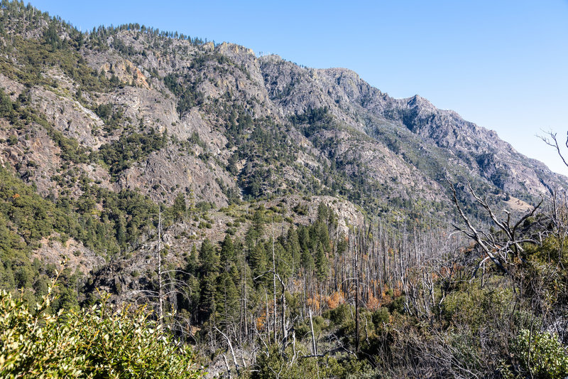 Sawtooth Ridge across the North Fork American River.