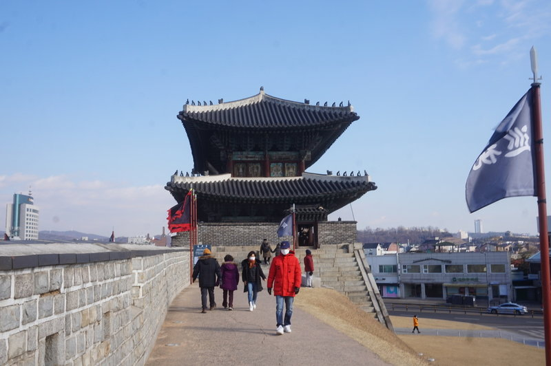 Hwaseong Fortress Loop at Northwestern Gate Guard Post.