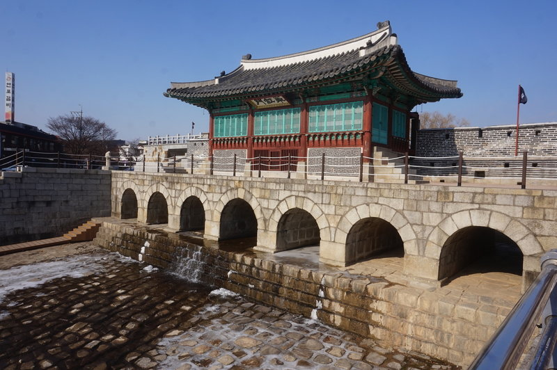 Hwaseong Fortress Loop at Northern Watergate.