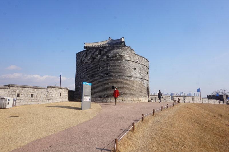 Hwaseong Fortress Loop at Northeastern Watch Tower.