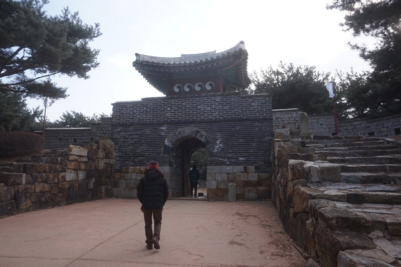 Hwaseong Fortress Loop at the Southeastern Secret Entrance.