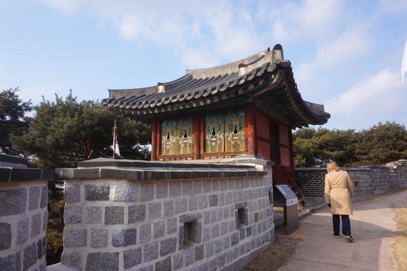 Hwaseong Fortress Loop at the Western Guard Pavilion.