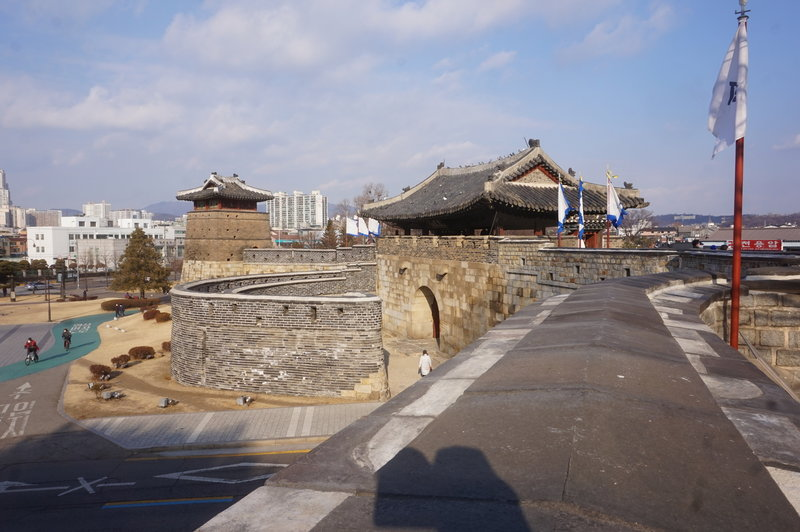 Hwaseong Fortress Loop at the Hwaseomum Gate.