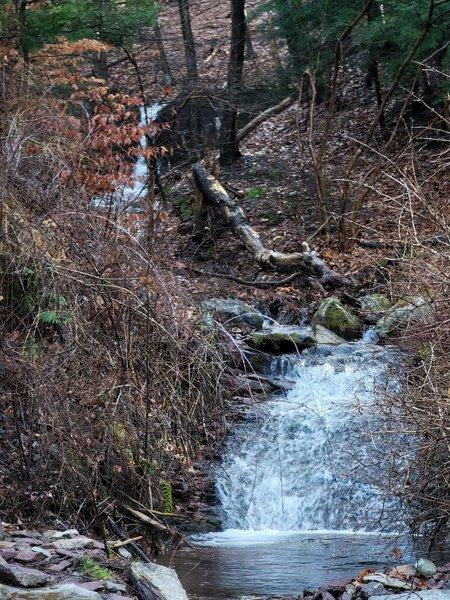 Waterfall at trail start.