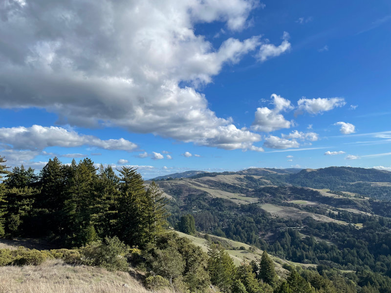 Views of the Santa Cruz Mountains and other open spaces from the Vista Point.